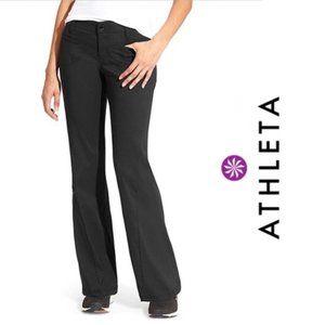 ATHLETA Slim Dipper Nylon Stretch Pant Black